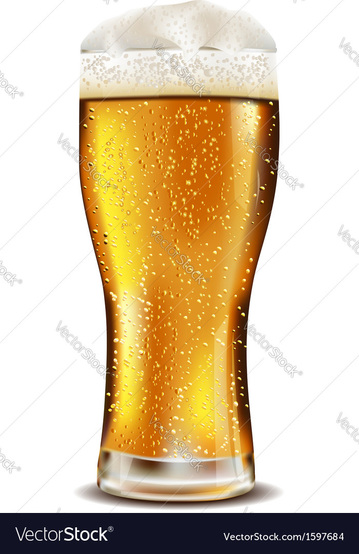 Beer glass with water drops vector | Price: 1 Credit (USD $1)