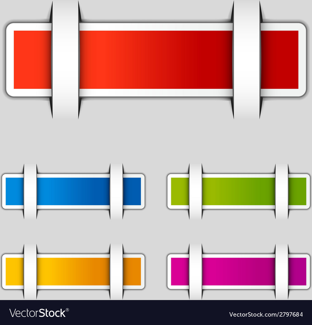 Blank attached rectangle labels vector | Price: 1 Credit (USD $1)
