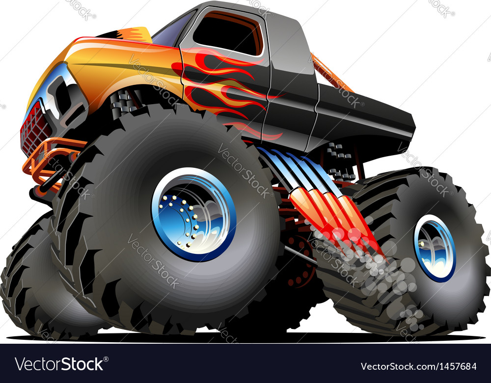 Cartoon monster truck vector | Price: 3 Credit (USD $3)