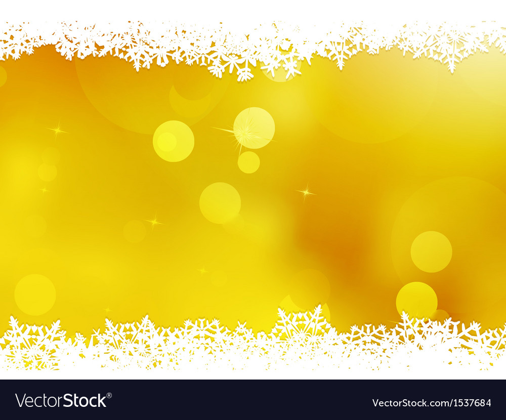 Christmas orange with snow flakes eps 10 vector | Price: 1 Credit (USD $1)