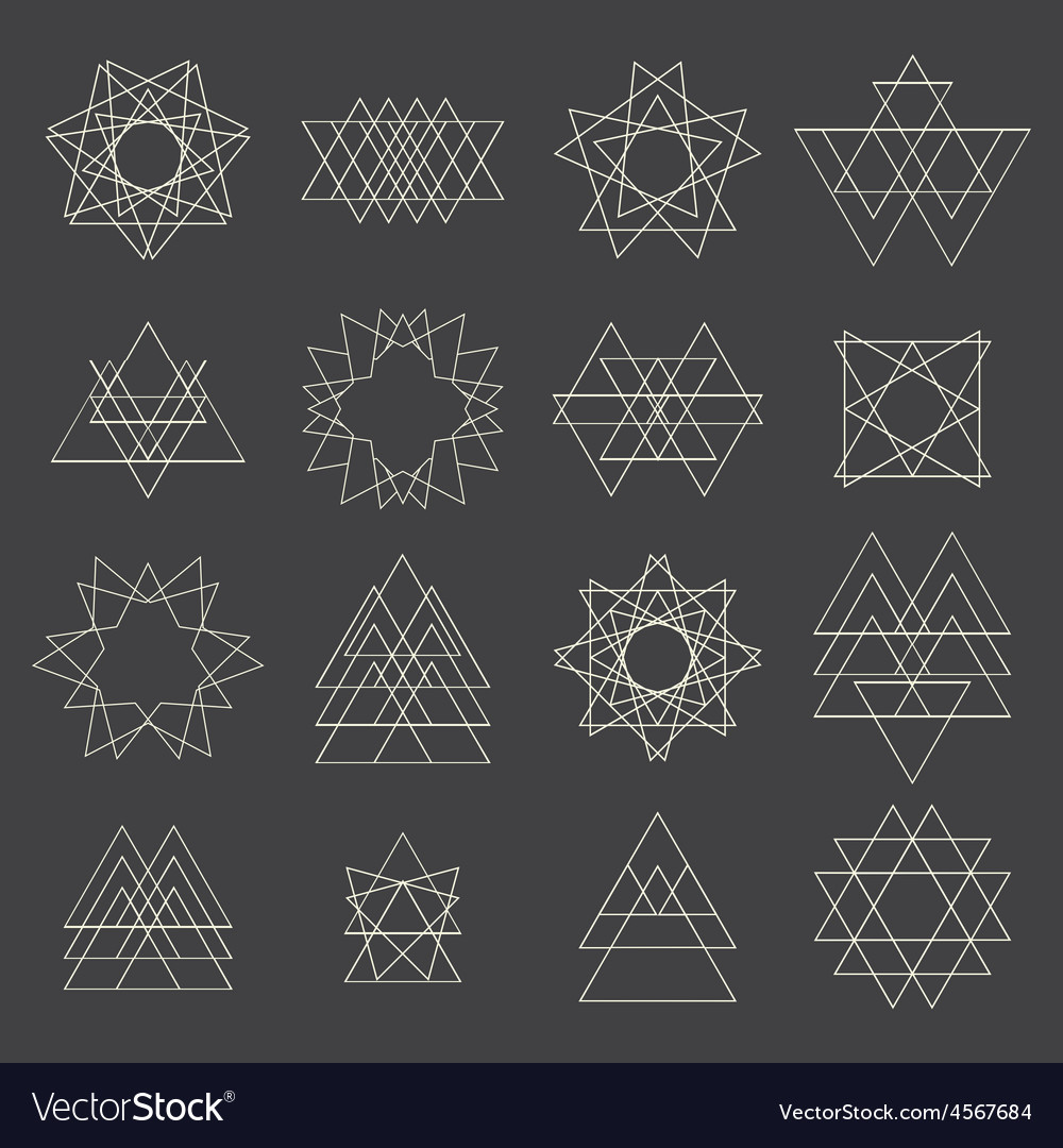 Collection of geometric shapes design elements vector | Price: 1 Credit (USD $1)