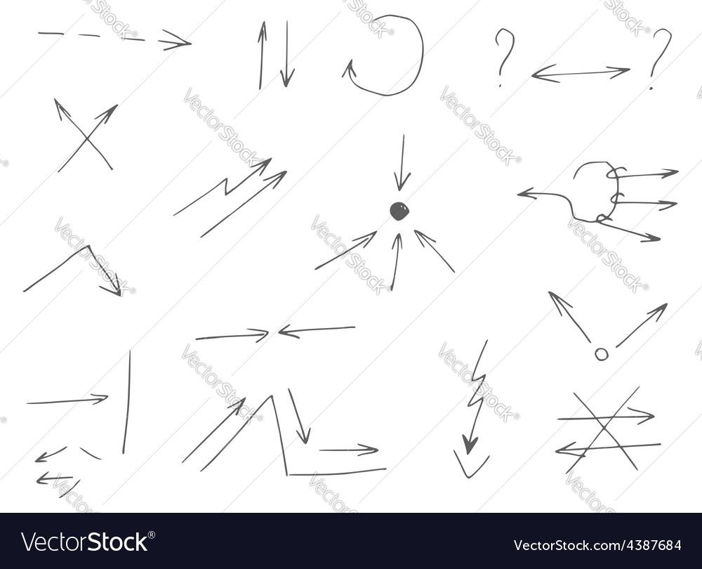 Gray arrows drawn by hand vector | Price: 1 Credit (USD $1)