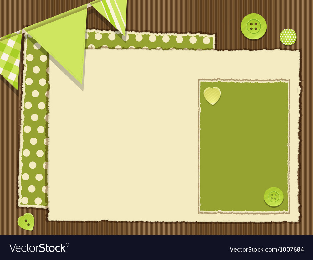 Scrapbooking green layout vector | Price: 1 Credit (USD $1)