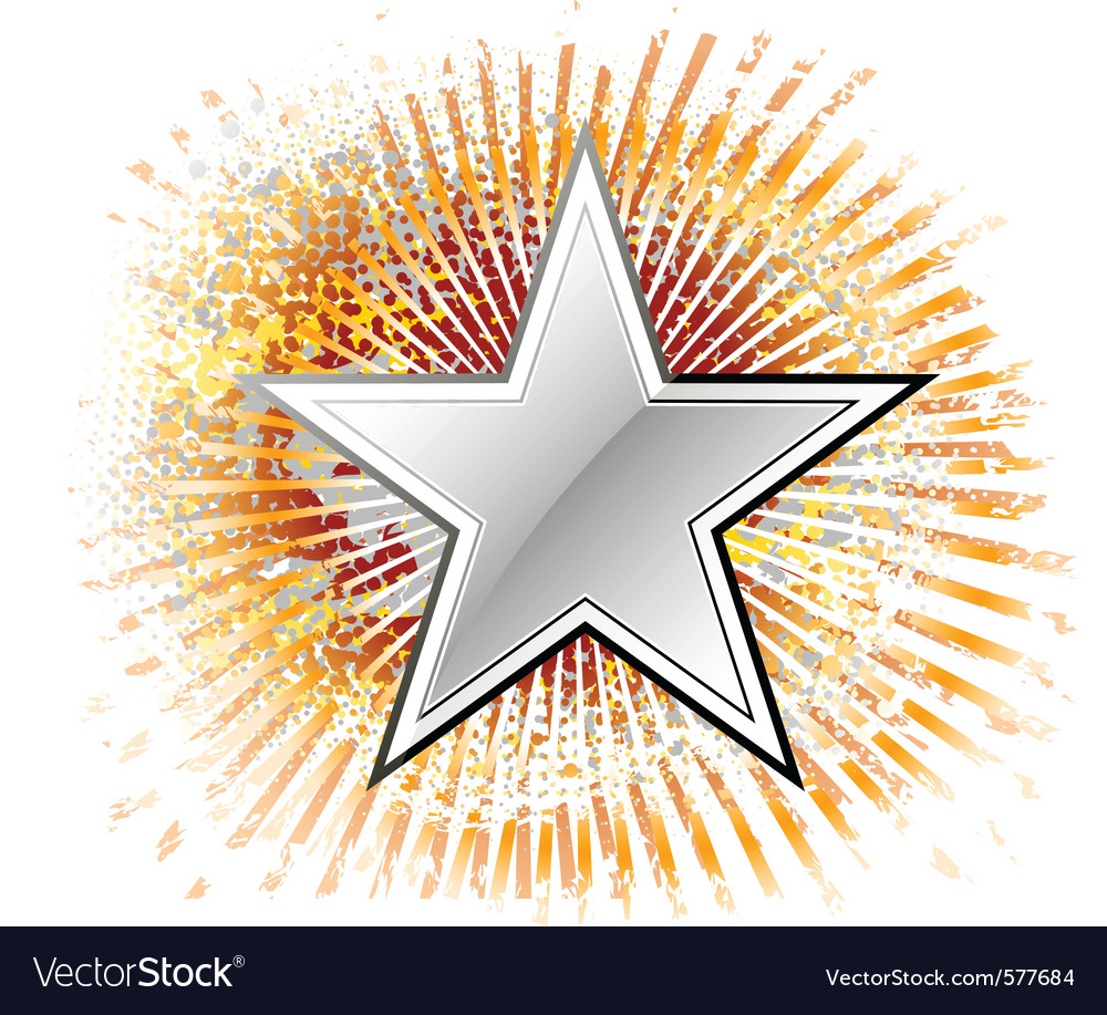 Silver star vector | Price: 1 Credit (USD $1)