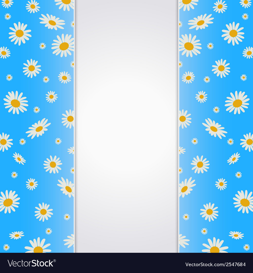 Summer background with blank paper card vector | Price: 1 Credit (USD $1)