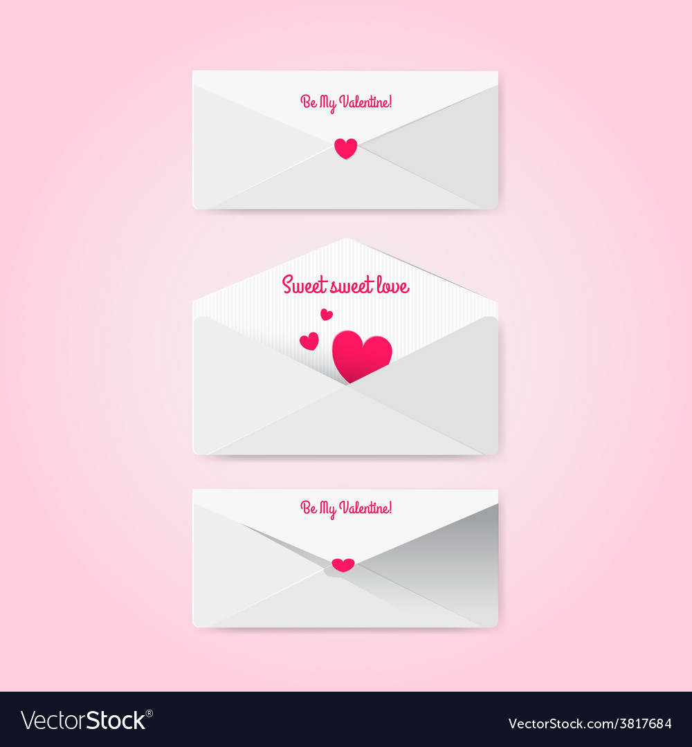 Sweet envelopes in material style vector | Price: 1 Credit (USD $1)