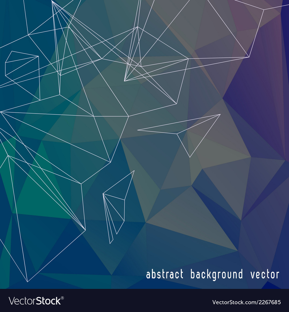 Abstract color triangle background vector | Price: 1 Credit (USD $1)