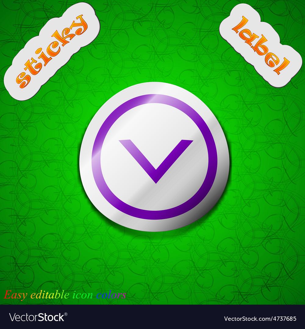 Arrow down download load backup icon sign symbol vector | Price: 1 Credit (USD $1)