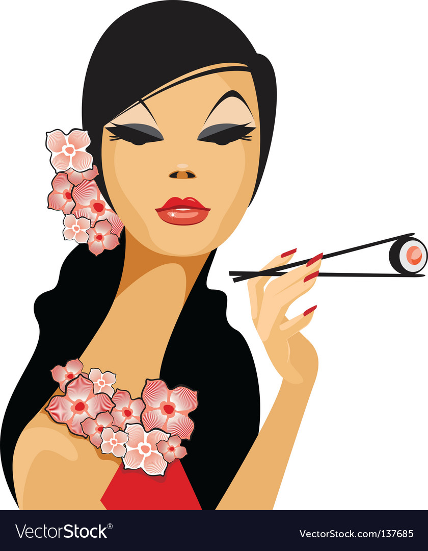 Asian beauty vector | Price: 3 Credit (USD $3)