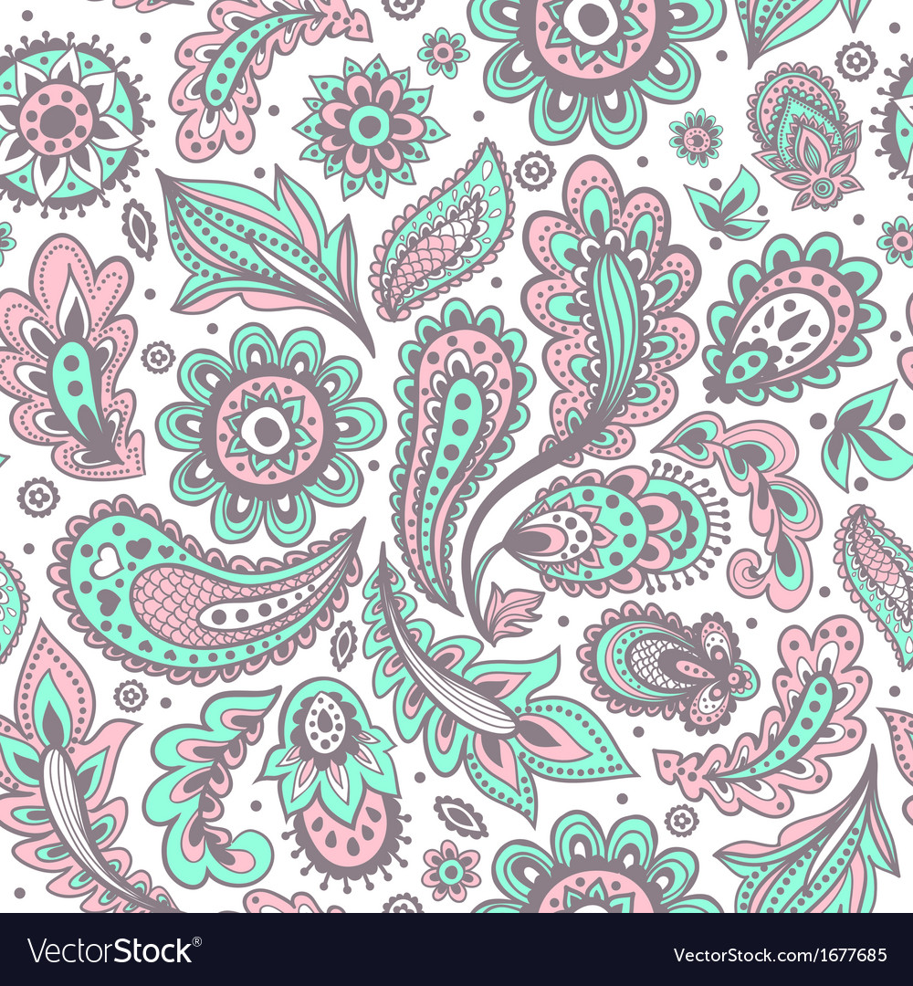 Beautiful floral pattern vector | Price: 1 Credit (USD $1)