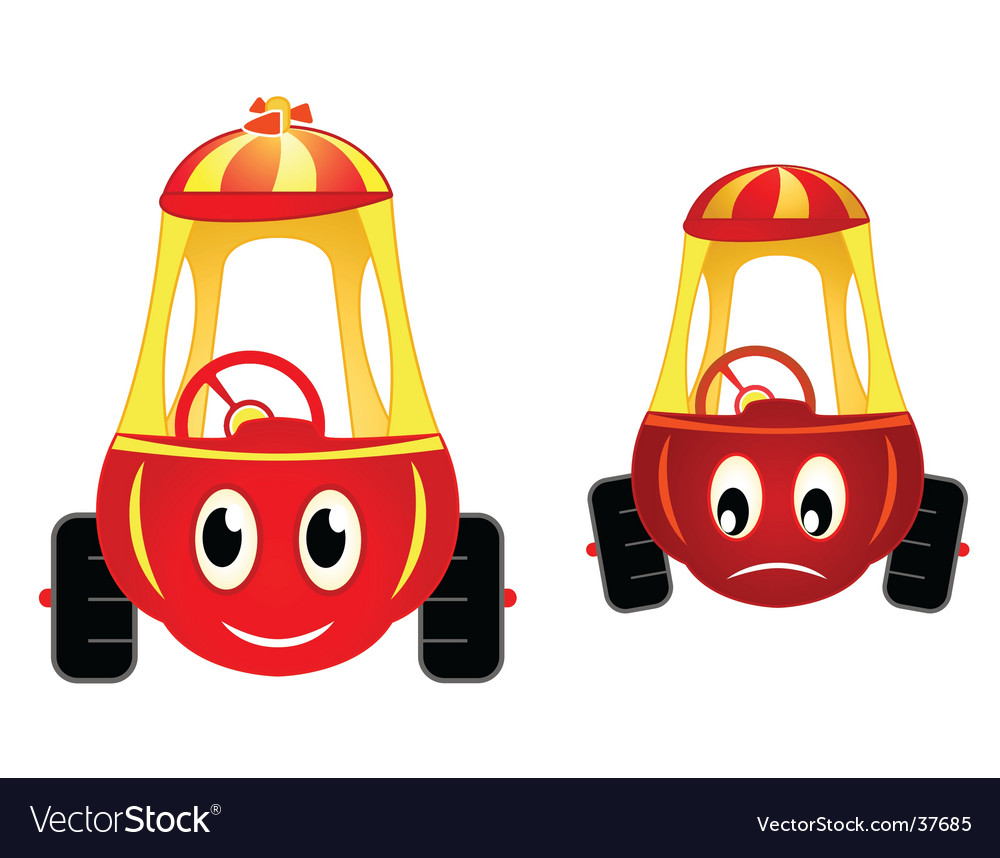 Child cars raicing vector | Price: 1 Credit (USD $1)