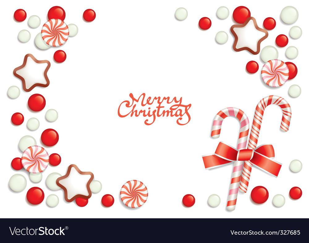 Christmas candy background vector   Price: 1 Credit (USD $1)