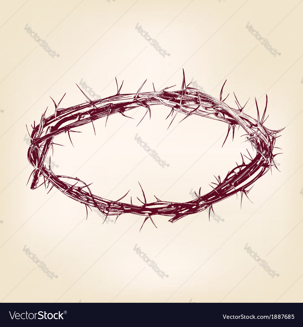 Crown of thorns hand drawn llustration vector | Price: 1 Credit (USD $1)