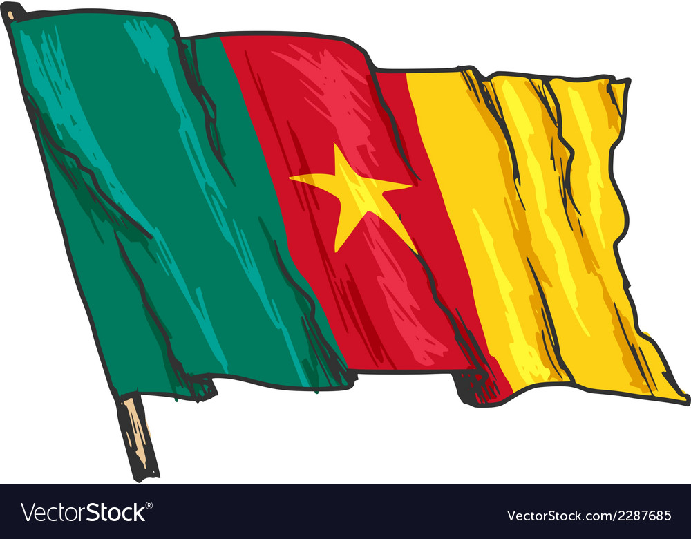 Flag of cameroon vector | Price: 1 Credit (USD $1)