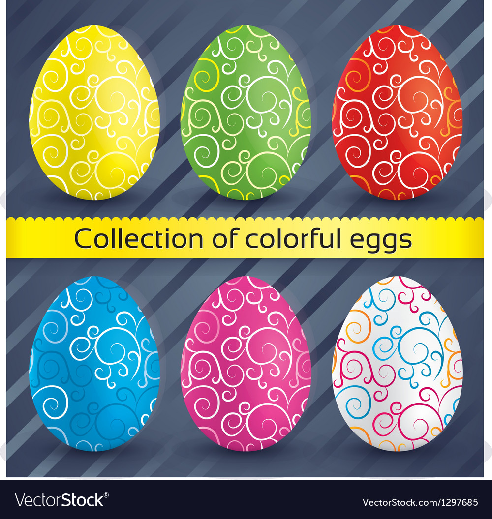 Happy easter colorful textured eggs collection vector   Price: 1 Credit (USD $1)