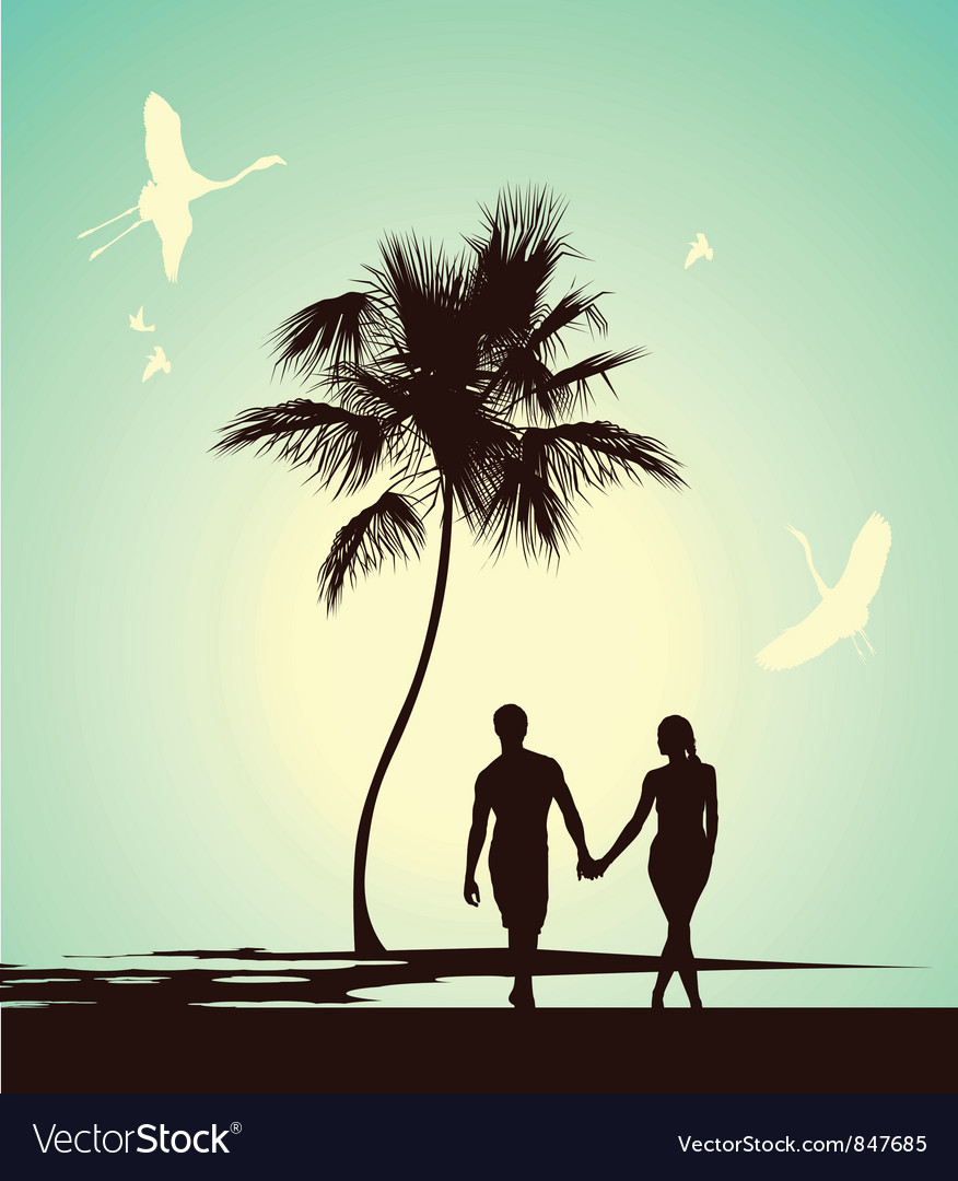 Married couple walking vector | Price: 1 Credit (USD $1)