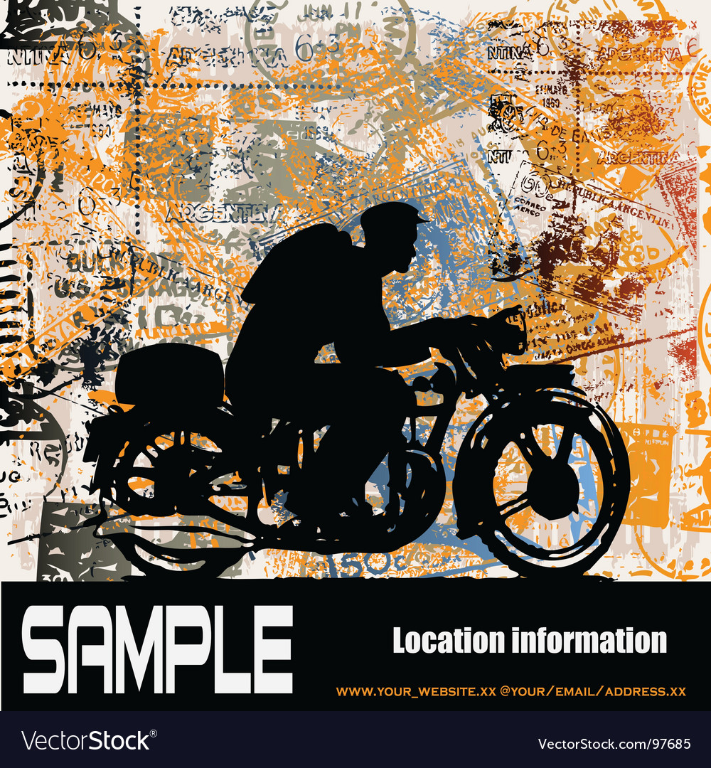 Motorcycle travels vector | Price: 1 Credit (USD $1)