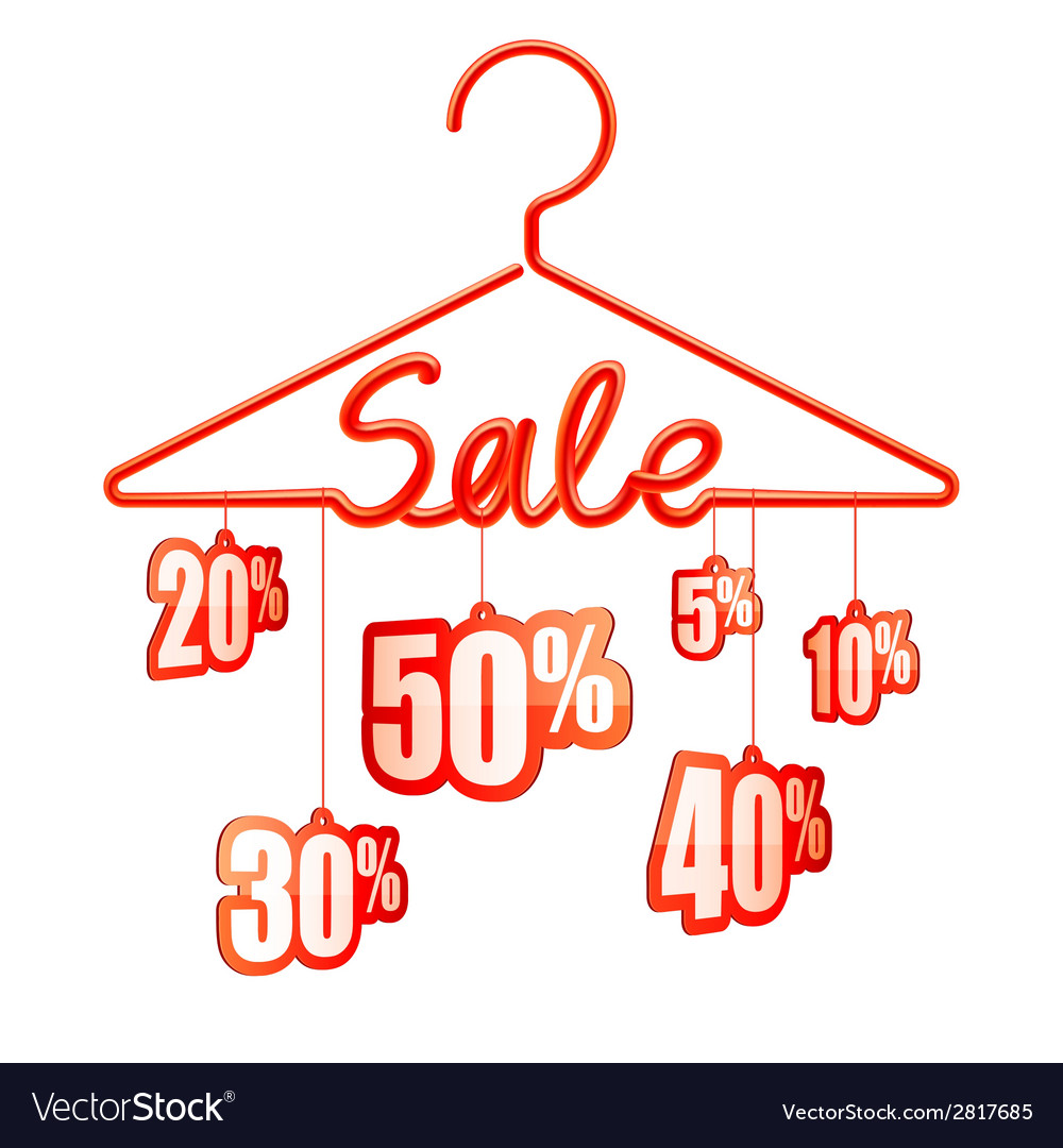 Sale hanger vector | Price: 1 Credit (USD $1)