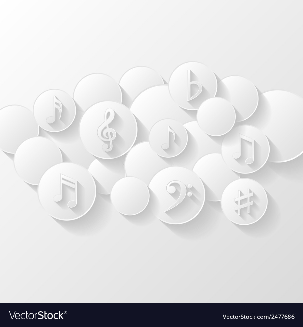 Abstract background with musical notes vector | Price: 1 Credit (USD $1)