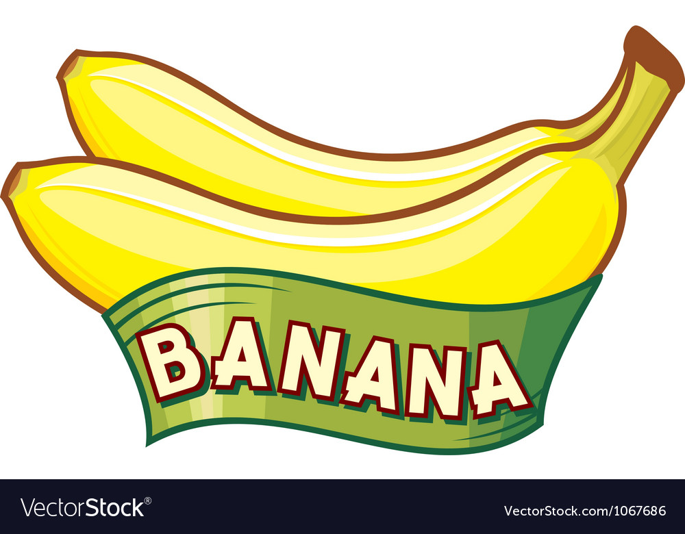Banana label vector | Price: 1 Credit (USD $1)