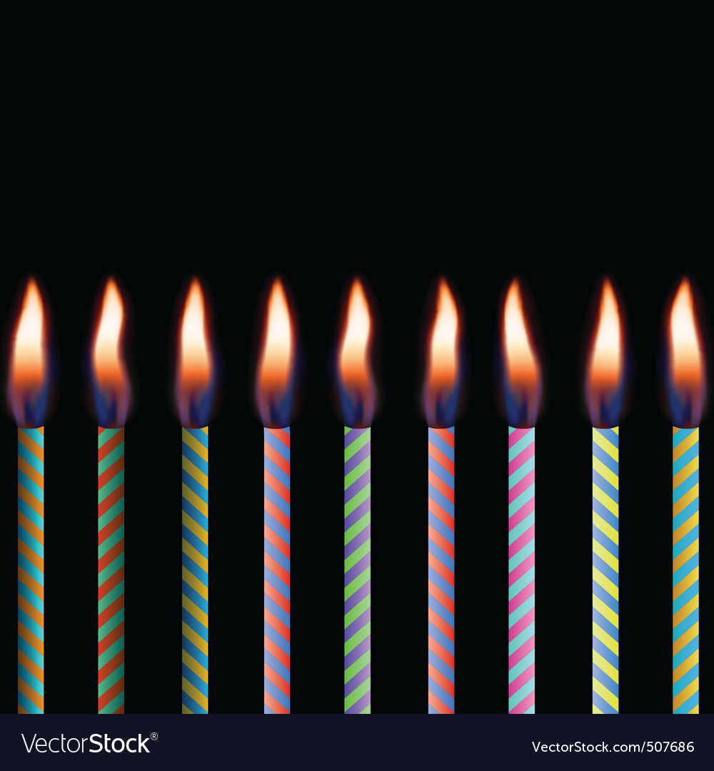 Candles on black background eps 8 vector | Price: 1 Credit (USD $1)