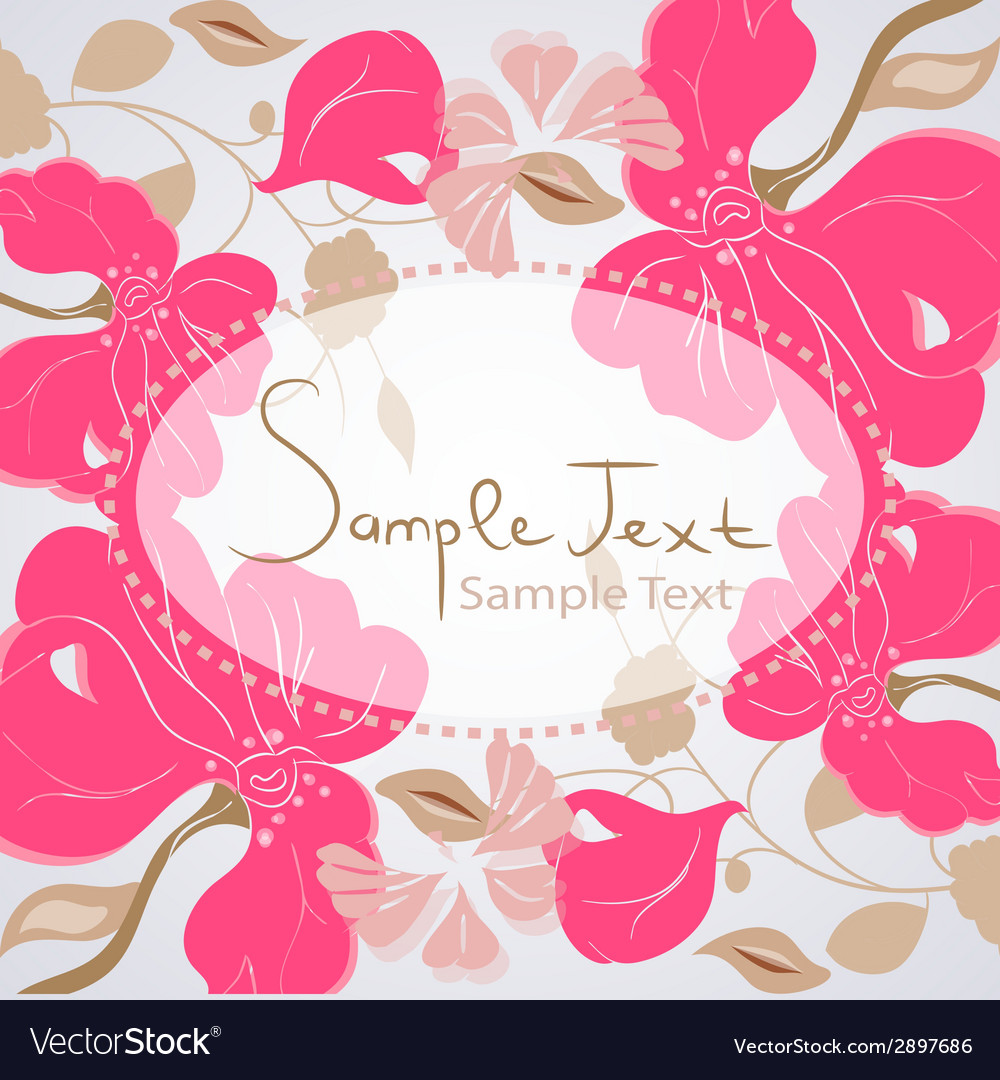 Floral background card vector | Price: 1 Credit (USD $1)