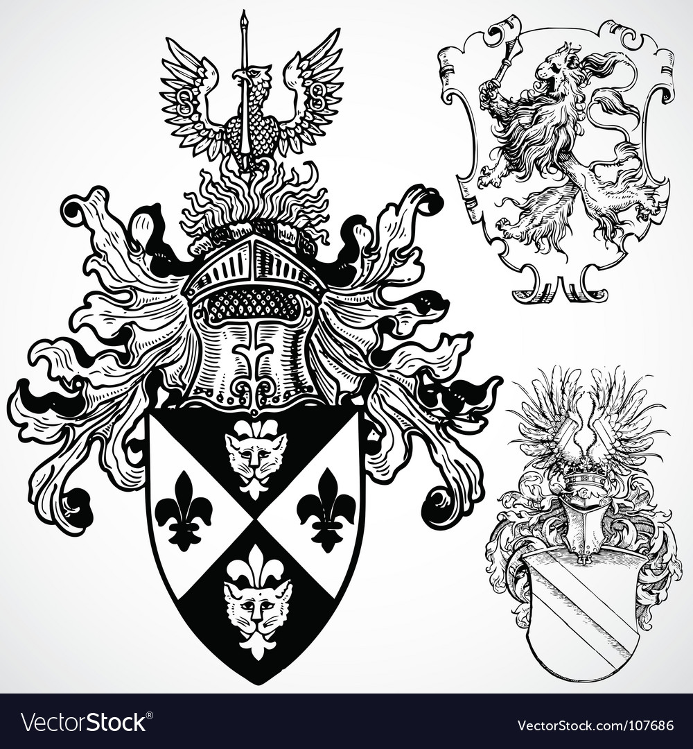 Gothic crest ornaments vector | Price: 1 Credit (USD $1)