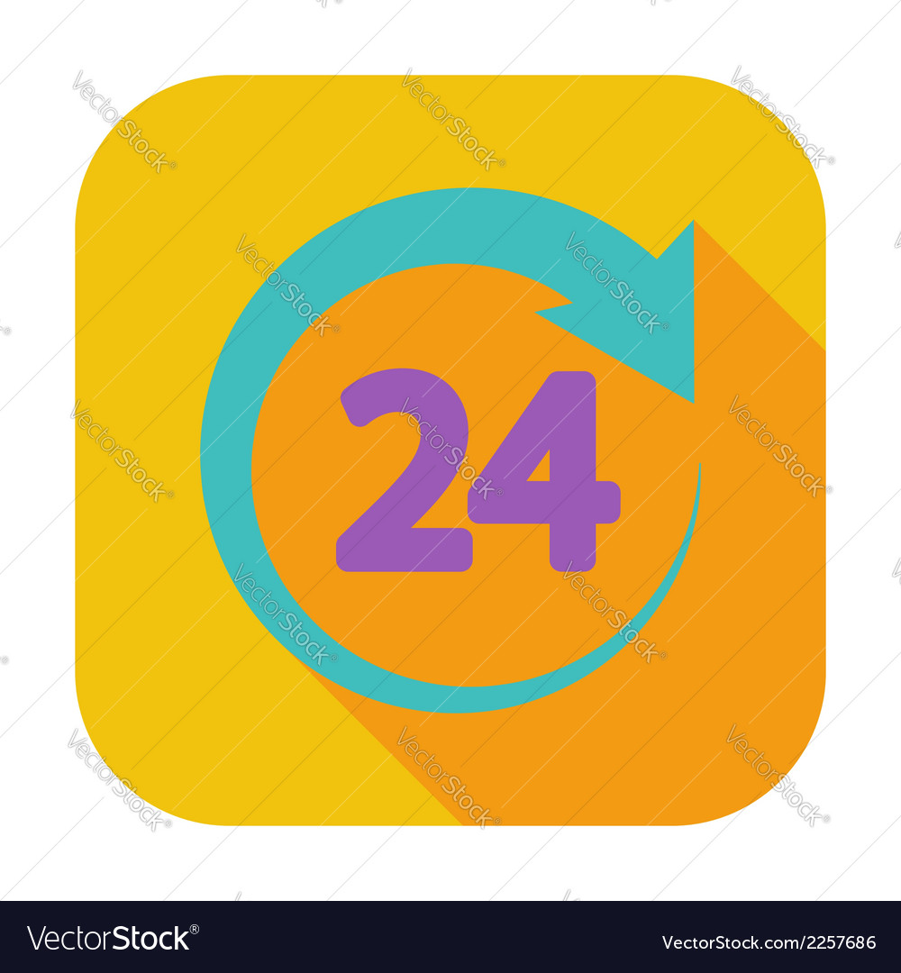Hours 24 vector | Price: 1 Credit (USD $1)