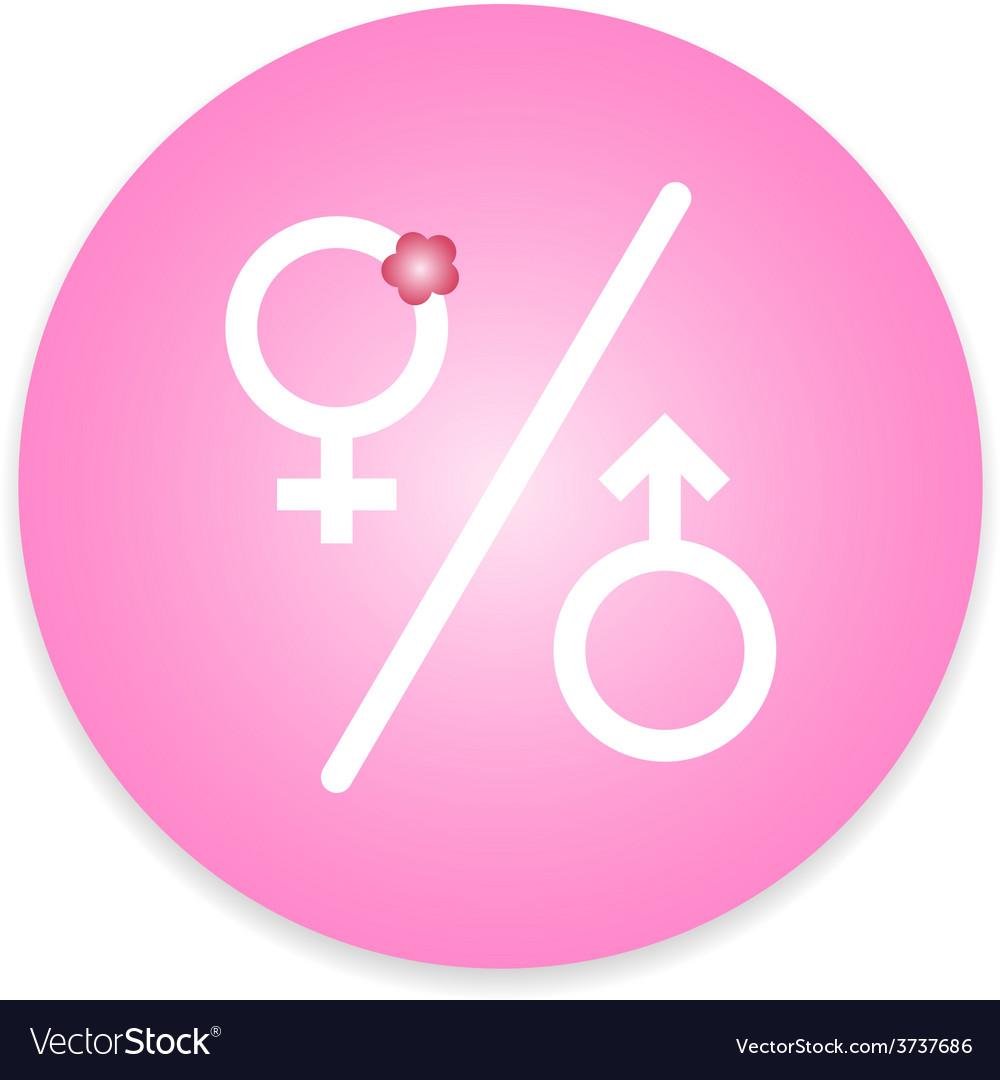 Men and women restroom sign vector | Price: 1 Credit (USD $1)
