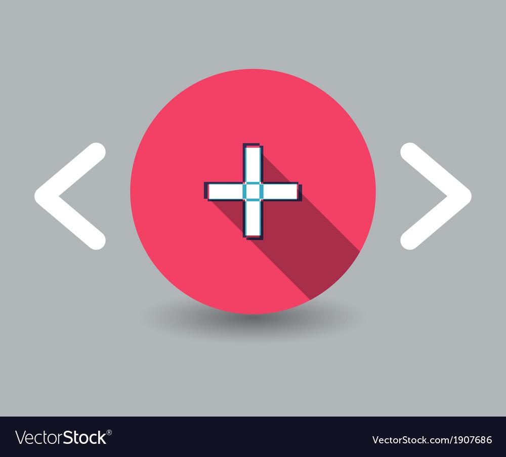 Plus icon vector   Price: 1 Credit (USD $1)