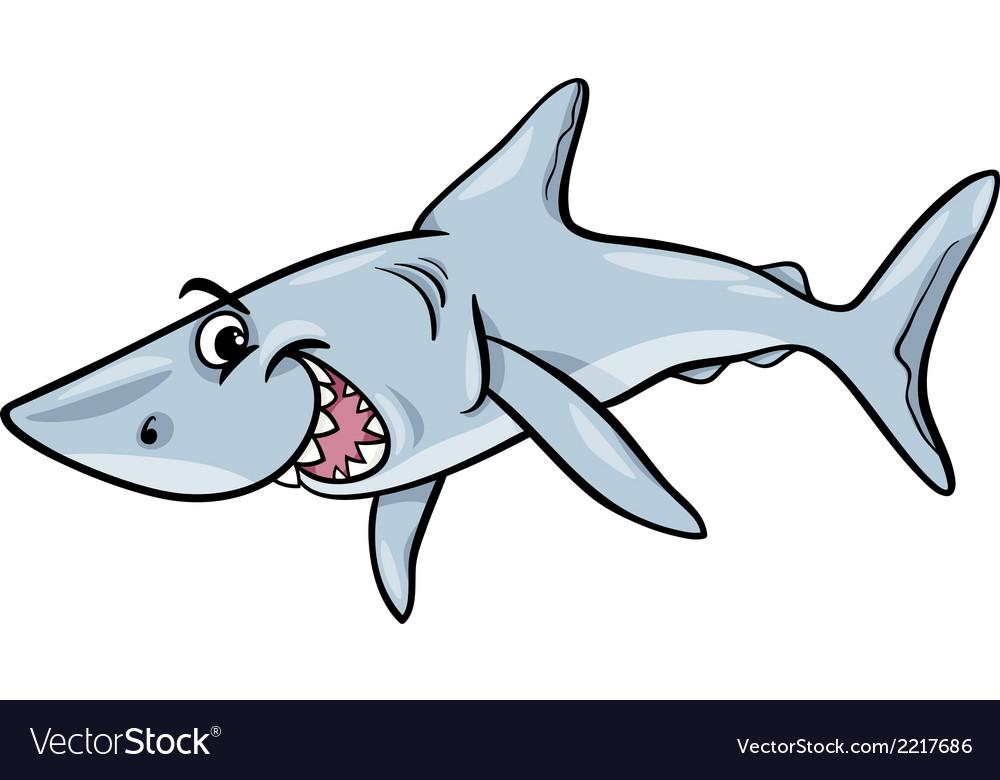 Shark animal cartoon vector | Price: 1 Credit (USD $1)
