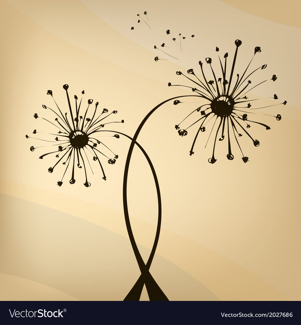 Vektor unusual dandelion vector | Price: 1 Credit (USD $1)