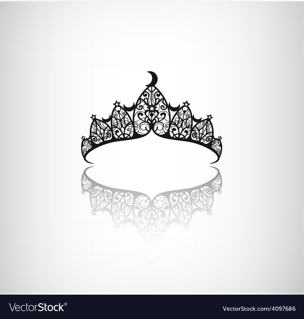 Vintage elegant decorated with star crown vector | Price: 1 Credit (USD $1)