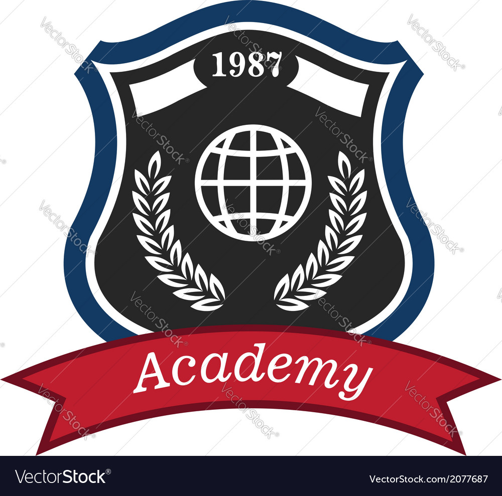 Academy emblem vector | Price: 1 Credit (USD $1)