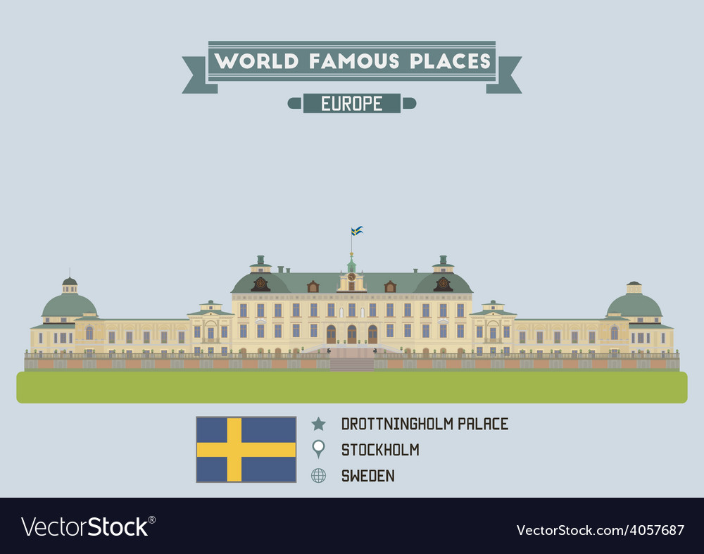 Drottingholm palace vector | Price: 1 Credit (USD $1)