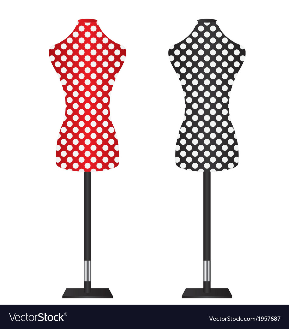 Female dressmakers mannequin vector | Price: 1 Credit (USD $1)
