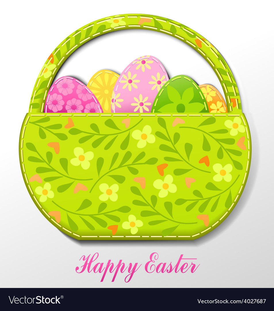 Handmade easter card vector | Price: 1 Credit (USD $1)