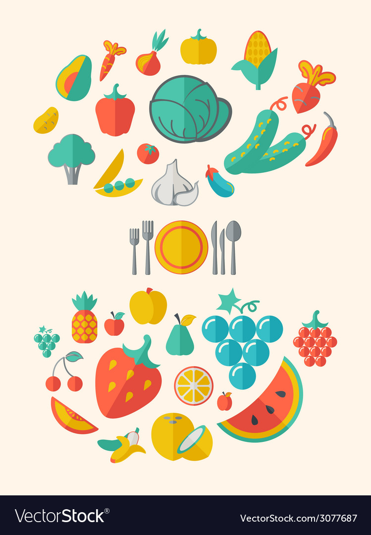 Healthy food infographic template vector | Price: 1 Credit (USD $1)