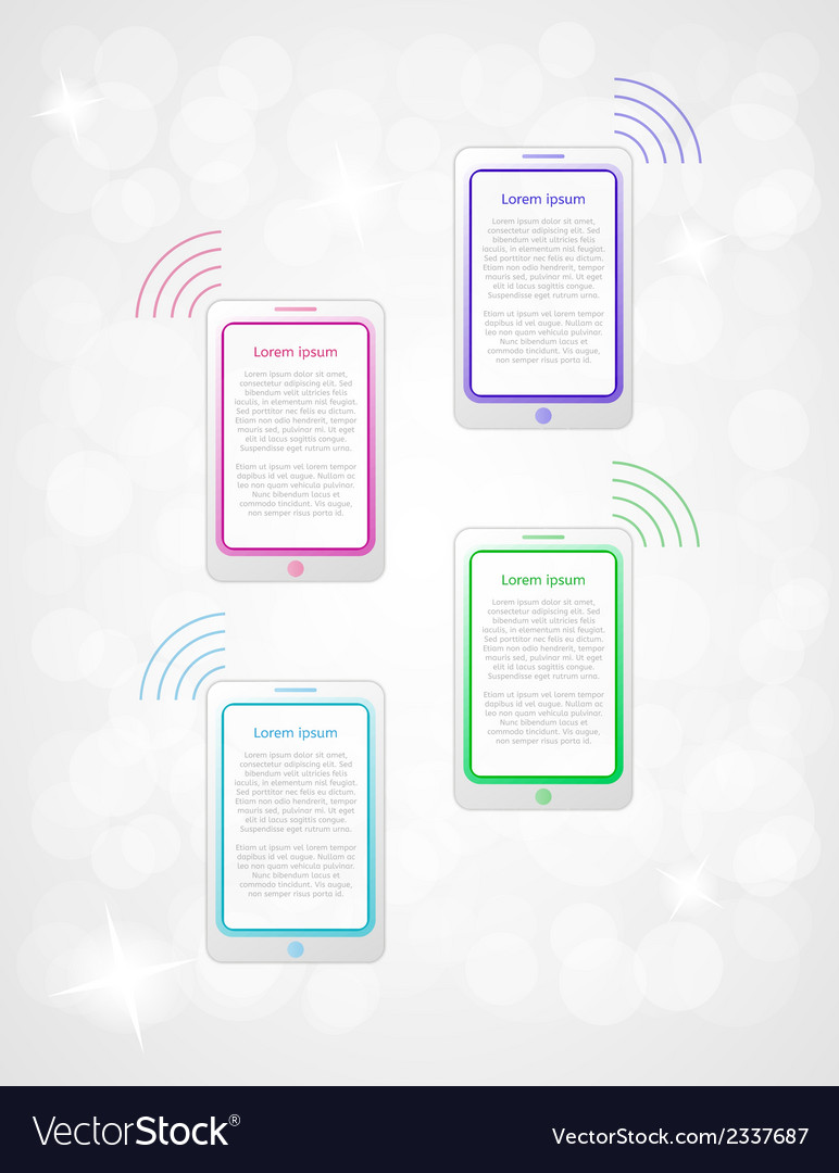 Infographics with phones or tablets vector | Price: 1 Credit (USD $1)