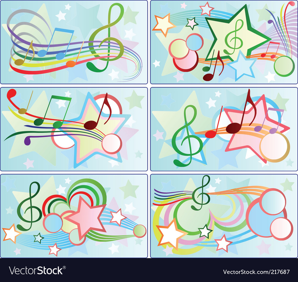 Musical backgrounds vector | Price: 1 Credit (USD $1)