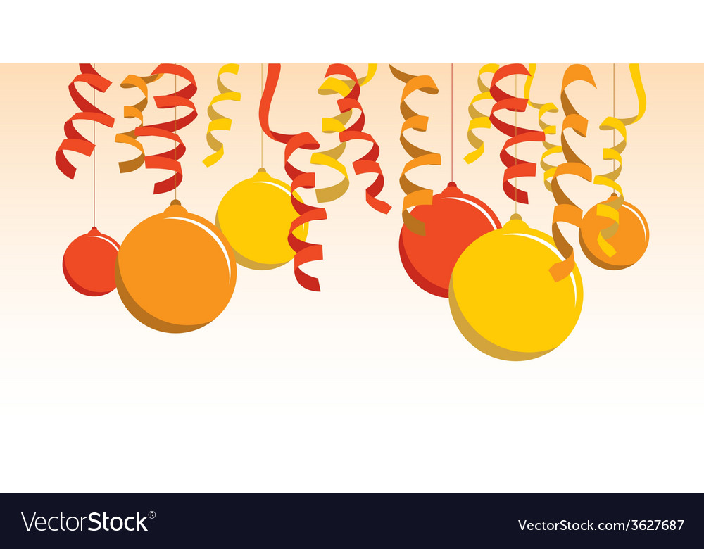 Orange balloon banner vector | Price: 1 Credit (USD $1)