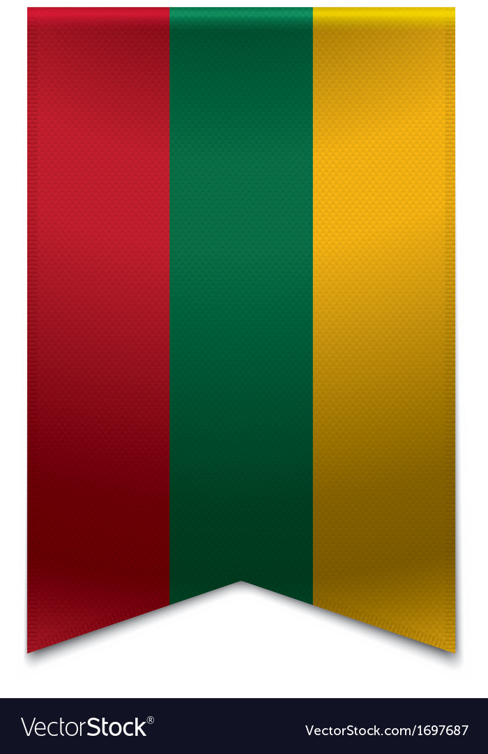 Ribbon banner - lithuanian flag vector | Price: 1 Credit (USD $1)