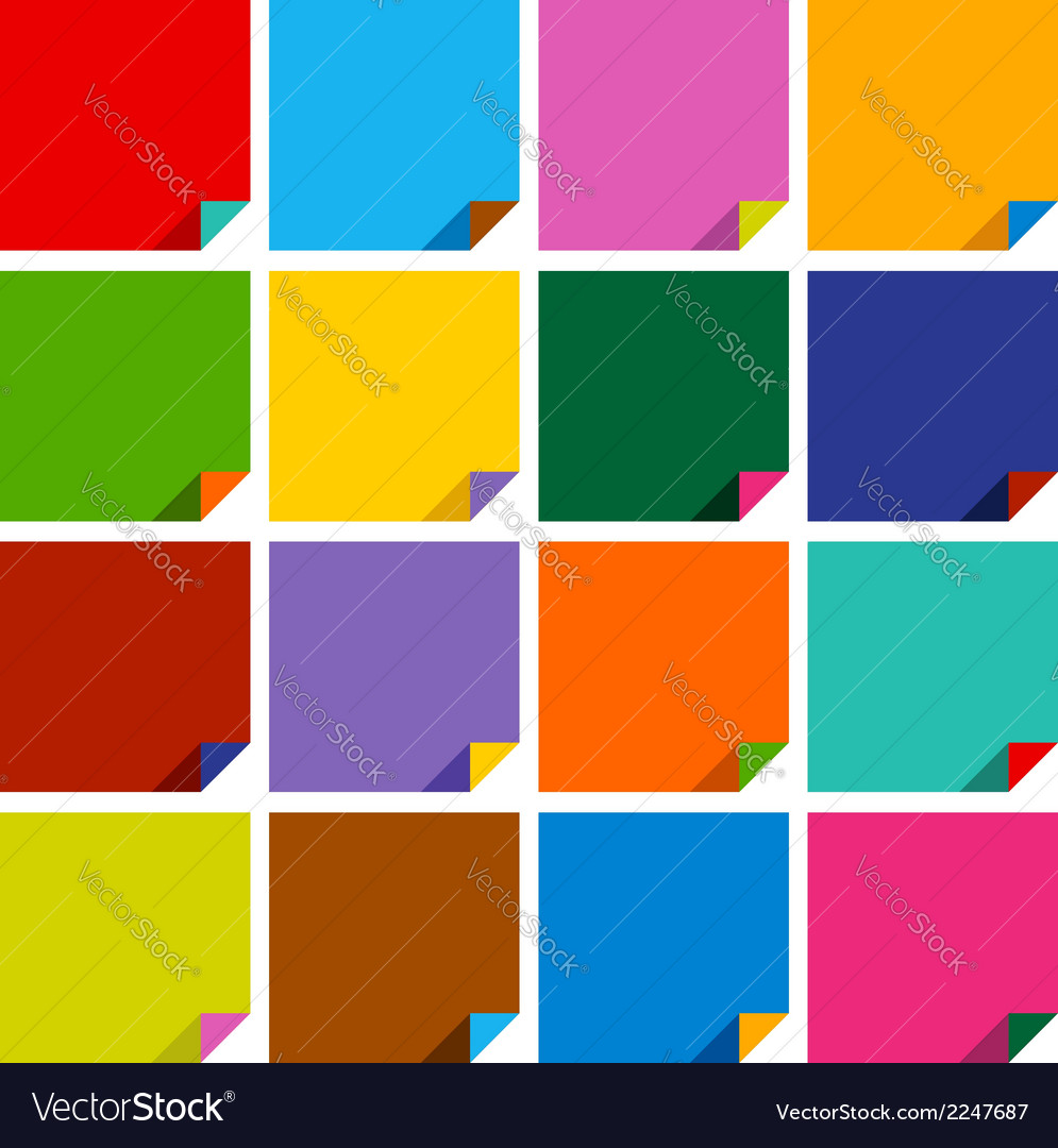 Set of 16 blank squares vector | Price: 1 Credit (USD $1)