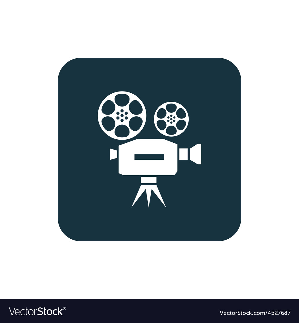 Video icon rounded squares button vector | Price: 1 Credit (USD $1)