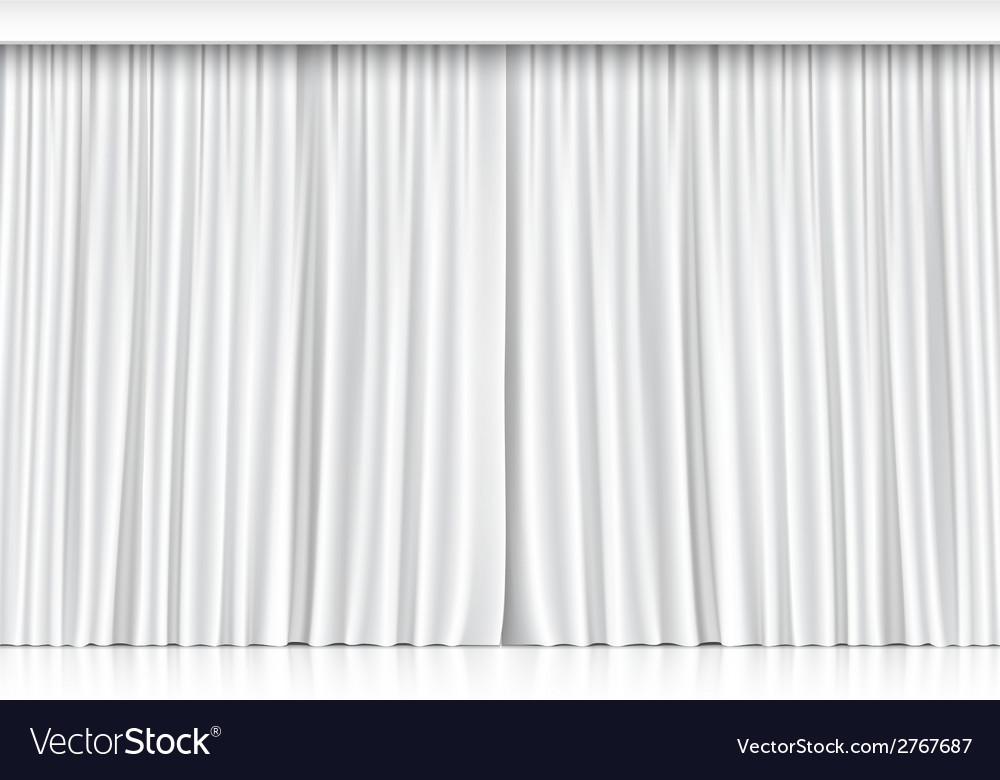 White curtains isolated on white background vector | Price: 1 Credit (USD $1)