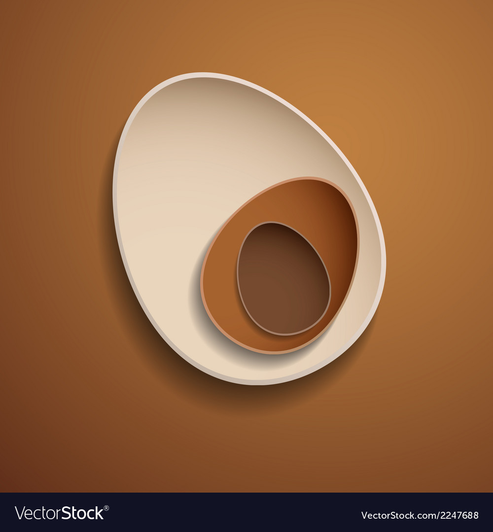 Abstract chocolate easter eggs vector | Price: 1 Credit (USD $1)