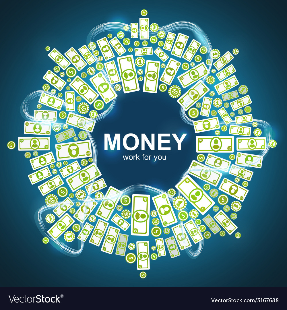 Background with money vector | Price: 1 Credit (USD $1)