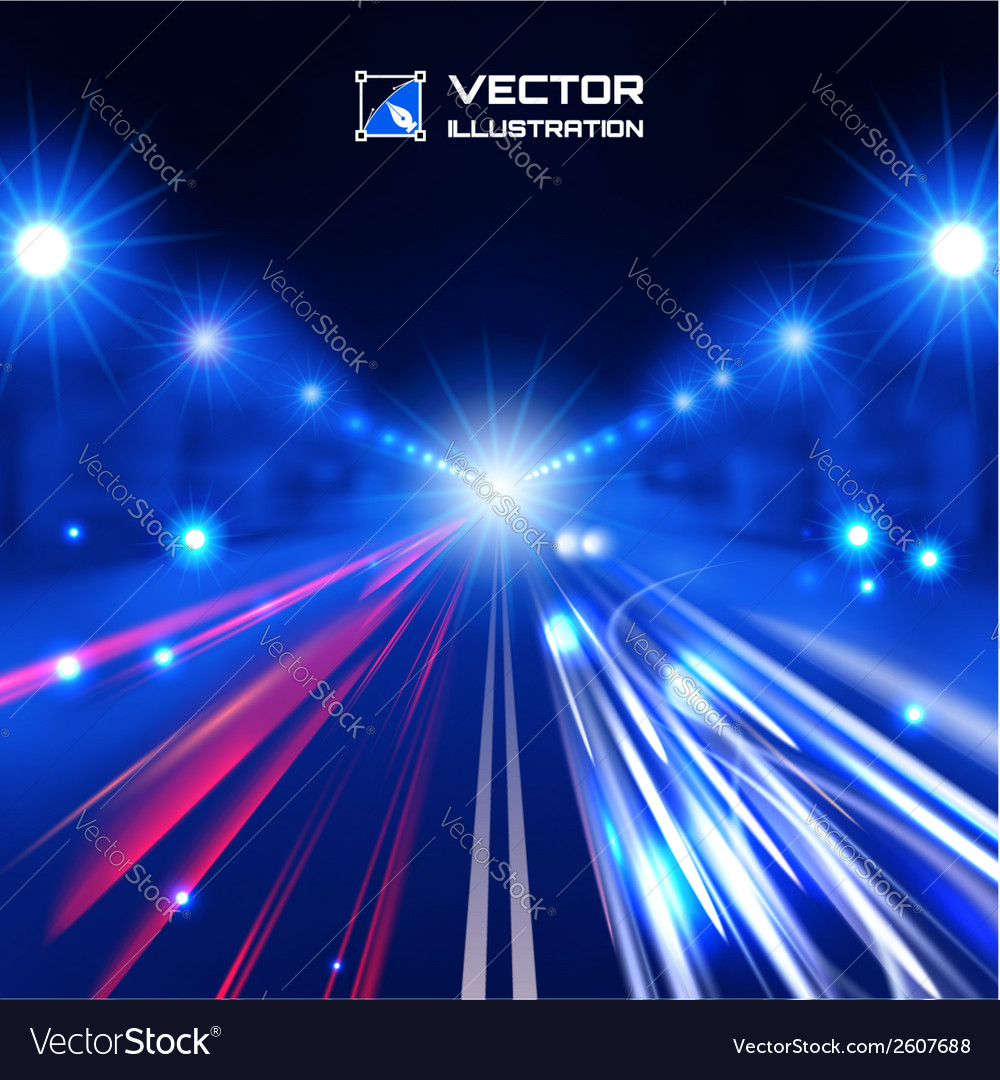 Blue tint night road vector | Price: 1 Credit (USD $1)