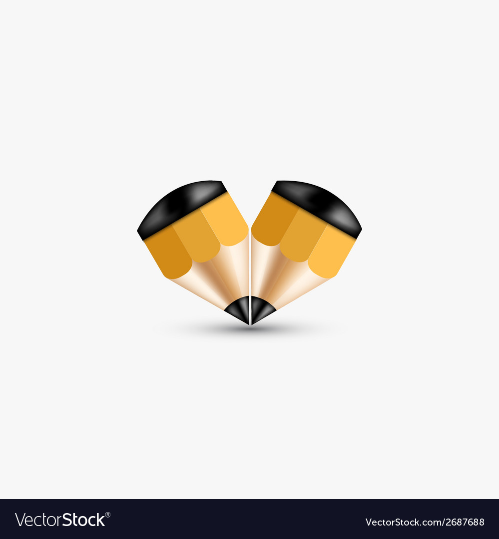 Concept pencil element design vector | Price: 1 Credit (USD $1)
