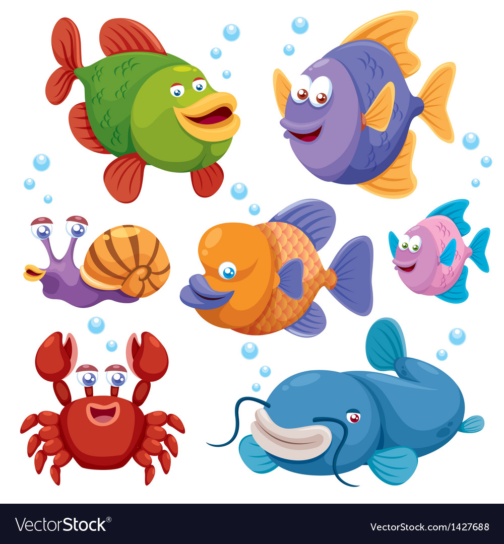 Fish collection vector | Price: 1 Credit (USD $1)